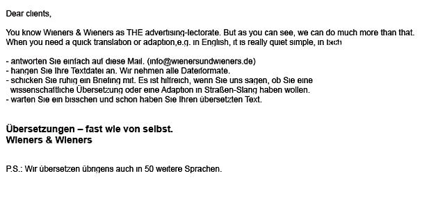 Wieners Auto-Translator-Mail